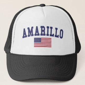 Amarillo US Flag Trucker Hat