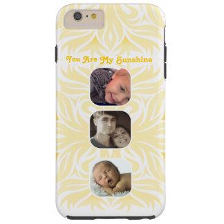 Amarillo usted es mi collage floral de la foto de funda resistente iPhone 6 plus