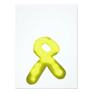 """Amarillo/vela de la cinta de la conciencia del oro invitación 5.5"""" x 7.5"""""""