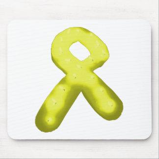 Amarillo/vela de la cinta de la conciencia del oro alfombrillas de raton