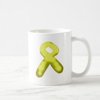 Amarillo/vela de la cinta de la conciencia del oro taza de café