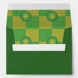 Amarillo verde a cuadros y texturizado en colores  sobre
