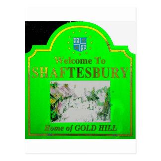 Amarillo verde de Shaftesbury Postales