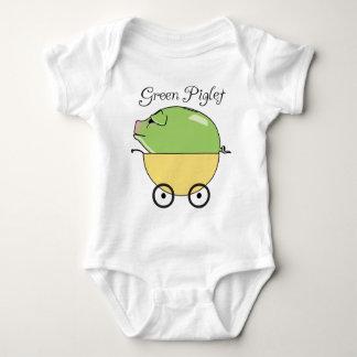Amarillo verde del cochinillo) body para bebé