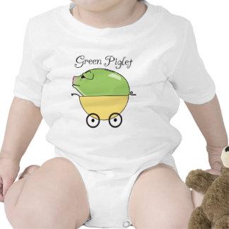 Amarillo verde del cochinillo) trajes de bebé