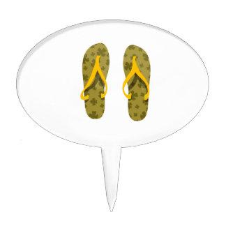 amarillo verde oliva pattern.png de las sandalias  figuras para tartas