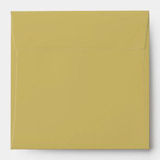 Amarillo verdoso antiguo sobres