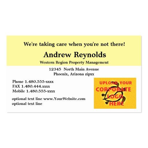 Amarillo y blanco personalizados de Corporate Logo Tarjetas De Visita
