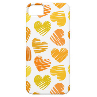 Amarillo y caja anaranjada y blanca del iPhone 5 d iPhone 5 Carcasa