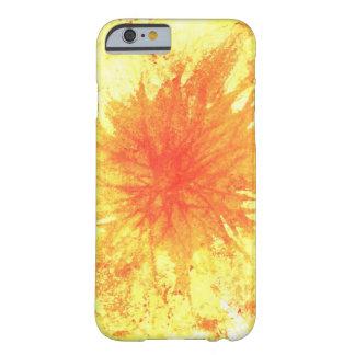 Amarillo y cubierta anaranjada del teléfono del funda de iPhone 6 barely there
