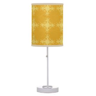 Amarillo y damasco floral anaranjado de la maravil lámpara de escritorio