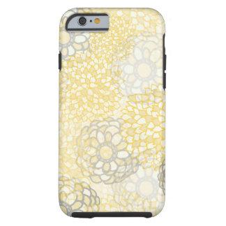 Amarillo y diseño de la explosión de la flor de la funda para iPhone 6 tough
