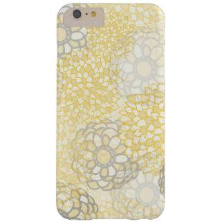 Amarillo y diseño de la explosión de la flor de la funda de iPhone 6 plus barely there