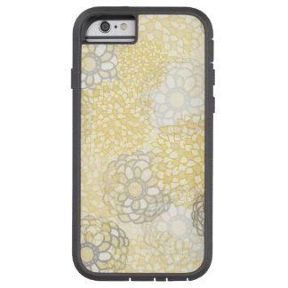 Amarillo y diseño de la explosión de la flor de la funda de iPhone 6 tough xtreme