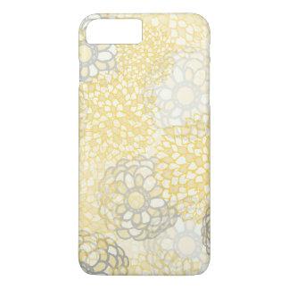 Amarillo y diseño de la explosión de la flor de la funda iPhone 7 plus