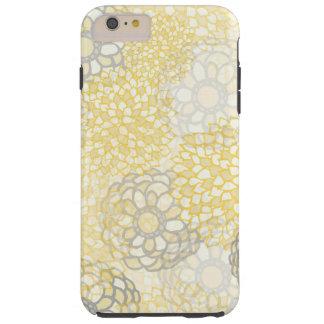 Amarillo y diseño de la explosión de la flor de la funda resistente iPhone 6 plus