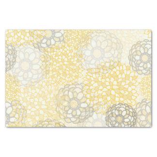Amarillo y diseño de la explosión de la flor de la papel de seda pequeño