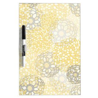 Amarillo y diseño de la explosión de la flor de la tableros blancos