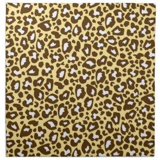 Amarillo y estampado de animales manchado leopardo servilletas imprimidas