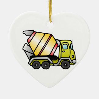 Amarillo y mezclador de cemento ornaments para arbol de navidad
