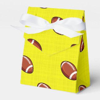 Amarillo y modelo brillantes del fútbol de Brown Cajas Para Regalos