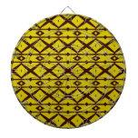 Amarillo y modelo moderno elegante del enrejado de tabla dardos