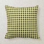 Amarillo y negro de la guinga almohada