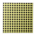 Amarillo y negro de la guinga azulejos cerámicos