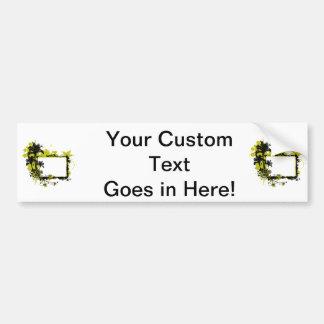 Amarillo y negro del marco de la palmera pegatina para auto