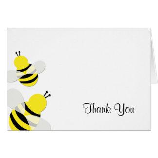 Amarillo y negro manosee la abeja le agradecen felicitación