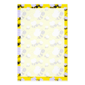 Amarillo y negro manosee la abeja papeleria