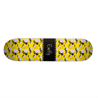 "Amarillo y negro manosee la abeja patineta 8 1/8"""