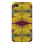 Amarillo y púrpura iPhone 4 carcasas