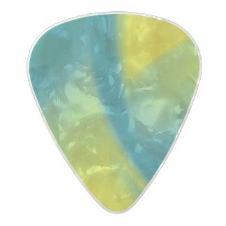 Amarillo y remolino del trullo púa de guitarra celuloide nacarado