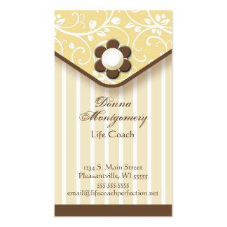Amarillo y tarjeta de visita del embrague de Brown
