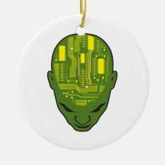 amarillo y verde de la cabeza del cerebro de la pl ornato