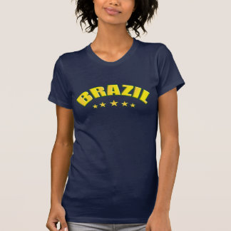 Amarillo y verde del Brasil Camisetas