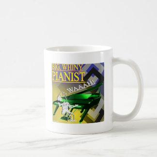 """Amarillo y verde """"del pianista grande del Whiny"""" Taza Clásica"""