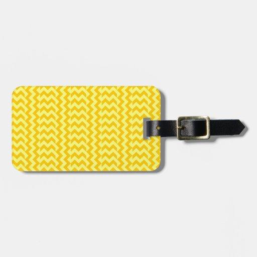 Amarillo Zigzag-Amarillo de V&H y de la mandarina  Etiqueta Para Maleta