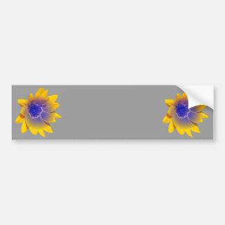amarillo zonnebloem-metalic bleu etiqueta de parachoque