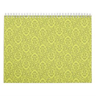 Amarillos barrocos del modelo calendario de pared