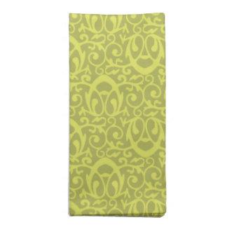 Amarillos barrocos del modelo servilletas
