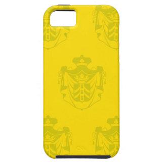 Amarillos del escudo de la familia iPhone 5 Case-Mate protectores