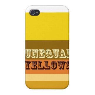 """Amarillos desiguales "" iPhone 4 Carcasa"