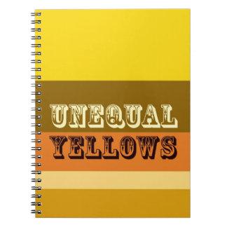 """""""Amarillos desiguales """" Libreta Espiral"""