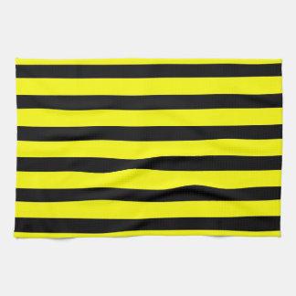 Amarillos y negros intrépidos manosean el modelo r toallas de cocina