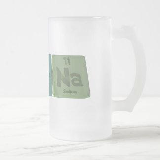 Amarna-Am-Ar-Na-Americium-Argon-Sodium Frosted Glass Beer Mug