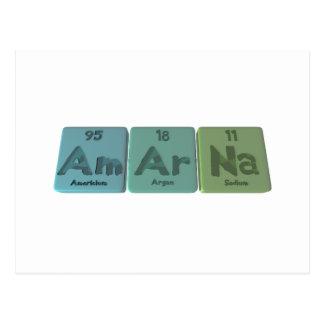 Amarna-Am-Ar-Na-Americium-Argon-Sodium Postcard