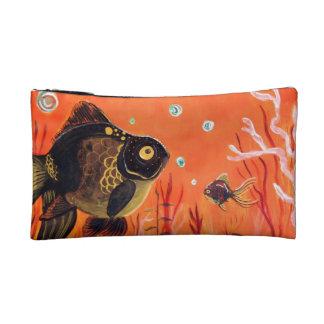 Amarre el bolso del cosmético del Goldfish