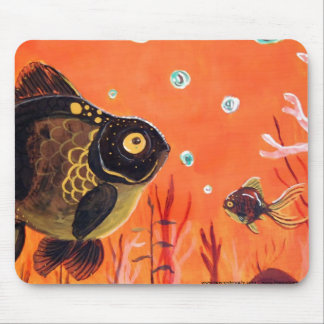 Amarre el Goldfish Alfombrilla De Ratones